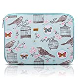 Arvok 11-12 Inch Laptop Sleeve Multi-Color & Size Choices Case/Water-Resistant Neoprene Notebook Computer Pocket Tablet Briefcase Carrying Bag/Pouch Skin Cover for Acer/Asus/Dell/Lenovo, Blue Bird