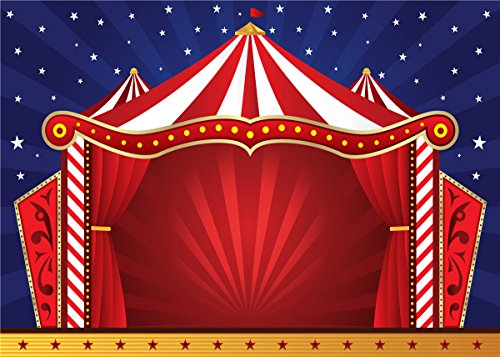 GYA Vinyl Circus Photography Backdrops Theater Jokes Clown Backgrounds Party Decorations 7x5ft]()