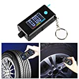 2-in-1 Mini Electronic Digital Display Tire Gauge Keychain Automobile High Precision Tread Depth Tire Pressure Gauge Has a Large LCD Display Screen with Luminous Function