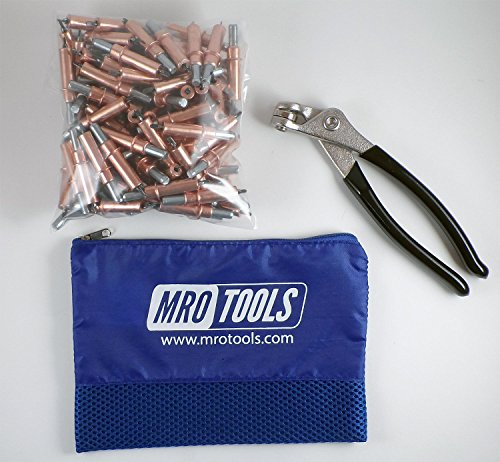 Metal Fasteners + Cleco Pliers w/Carry Bag (K1S100-1/8) ()