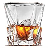Ashcroft Set of 2 Unique Whiskey Glasses – Iceberg Collection – Scotch, Liquor or Bourbon Tumblers, Ultra-Clarity Glassware, Elegant, and Dishwasher Safe For Sale