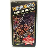 WWF WrestleMania's Greatest Matches VHS Coliseum Video