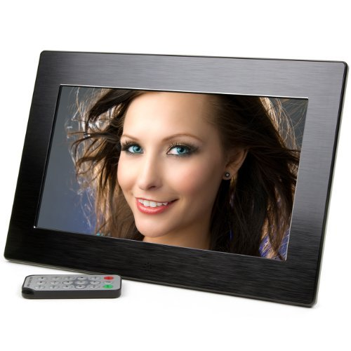 (Micca 10-Inch Wide Screen High Resolution Digital Photo Frame with Auto On/Off Timer (Black) (2015 Model))