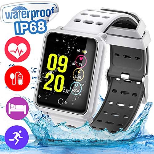 Cheap Smart Watch for Women Men IP68 Waterproof 1.3″ IPS Screen Sports Fitness Tracker Watch with Blood Pressure Heart Rate Sleep Monitor Pedometer Calorie Counter Compatible with Android iOS