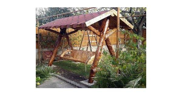 Casa de Jardín columpio Padrino rústico techada porche swing Mod ...