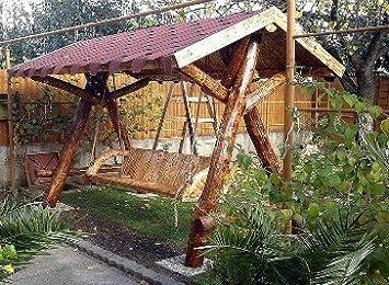 Casa Padrino columpios de jardín rústico de las señoras porche Swing Mod S1 - Madera maciza de roble - madera sólida: Amazon.es: Jardín