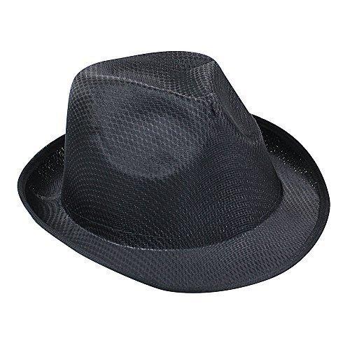 Damen & Herren Sommer SONNEN HUT - Fedora Panama Trilby Strohhut Stil Strand Hut Unisex - Schwarz, nicht angegeben