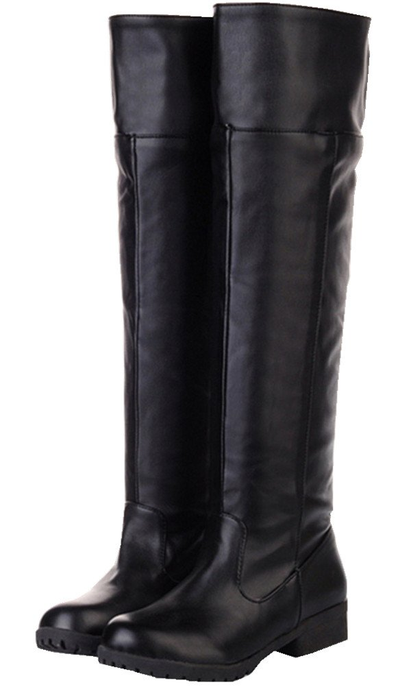 Adult Men's Cos-Play Knee-high Boot Riding Boots (10.5)