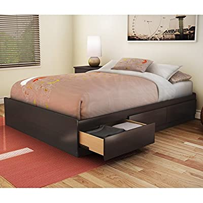 Sandbox Full Storage Platform Bed - Chocolate