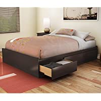 Full Storage Platform Bed Finish: Chocolate