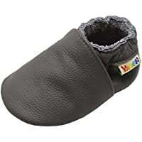 Yalion Baby Boys Girls Shoes Crawling Slipper Toddler Infant Soft Leather First Walking Moccasins