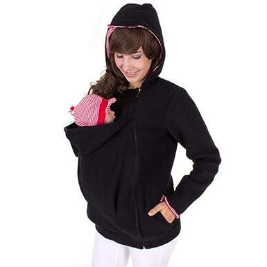 66306d059e5b8 Womens Maternity Kangaroo Hooded Sweatshirt for Baby Carriers Hoodie Jacket  Coat at Amazon Women's Clothing store: