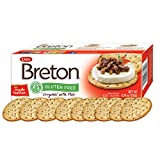 Dare Breton Gluten Free Entertaining Crackers, Original with Flax – Gluten Free Party Snacks with no Artificial Colors or Flavors – 4.76 Ounces (Pack of 6)