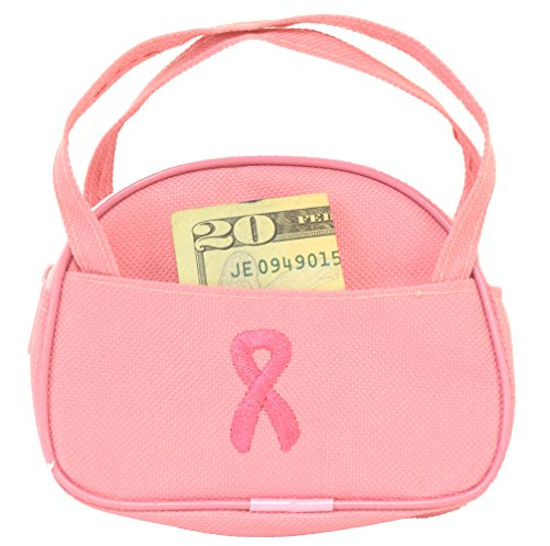Pink Ribbon Coin Purse / Mini Duffle Bag / Cancer Awareness