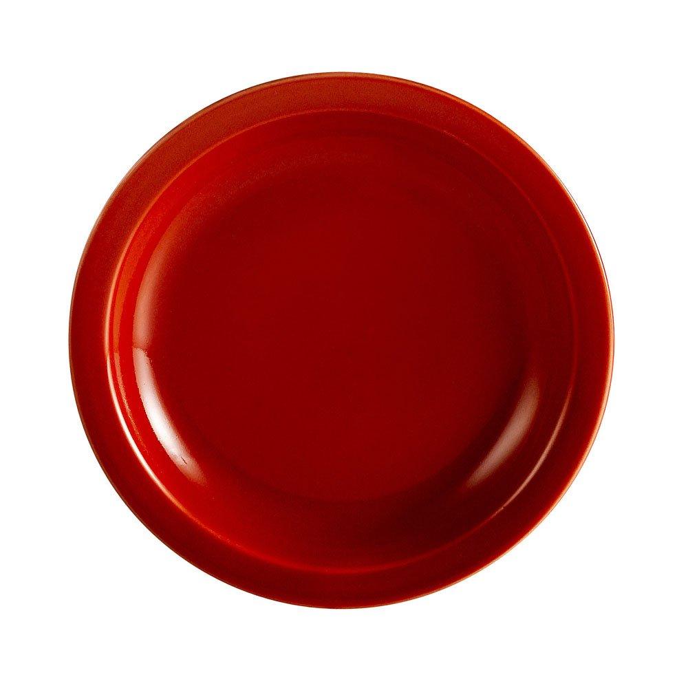 CAC China L-6NR-R Las Vegas Narrow Rim 6-1/2-Inch Red Stoneware Plate, Box of 36
