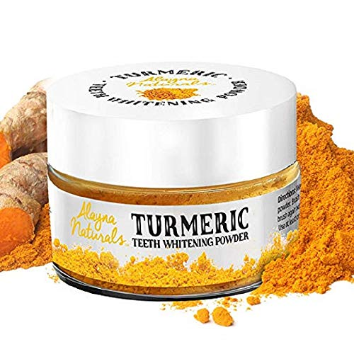 Alayna Turmeric Teeth Whitening Powder All Natural Teeth Whitener- The whitening Kit That Produces Results