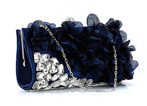 Nupciales Nuevas La Bolsos La Boda Bolsos Los Flores Embragues De Blue La Manera De Noche Blue De GSHGA Fiesta Para De Bolso Clubs 0qwHdxga