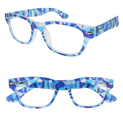 I Need You Readers Blue Woody Crazy Classic Style Reading Glasses in +3.00 Strength or Choose Your - Sunglasses Need Prescription I