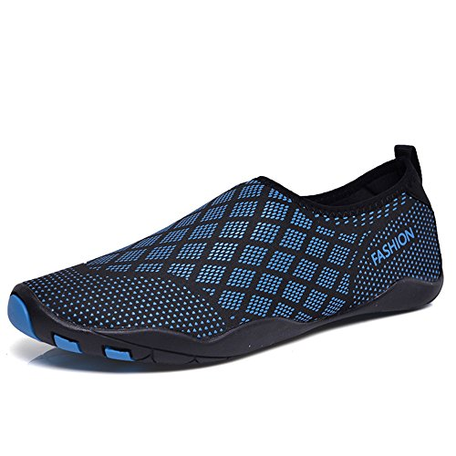 Pool Shoes Womens for Surf Water Mens Beach Blue Socks Swim Shoes Diamond Aqua Quick Shoes Dry Water Yoga Aerobics 1XHwqxnvw