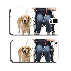 Guide dog isolated on white with wheelchair cell phone cover case iPhone6 Plus