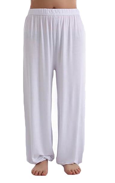 Baymate Mujeres Moda Pantalones De Harén Yoga Pantalón Ancho ...