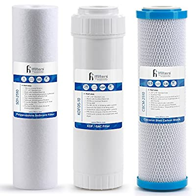 Drinking Water Replacement Filter Set for 3 stage Filtration Systems