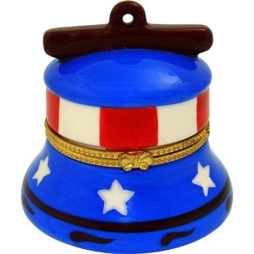 Anneau De La Liberte Artform Enamel Trinket Box Liberty Bell - Enameled Holiday Bells
