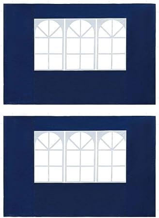 vidaXL 2X Parete per Tendostruttura PE con Finestra Antracite Pannello Gazebo