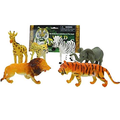 Forest Animal World, Animal Playsets Tigers Lions Leopards Deer Elephants Zebras for Kids (Animal Planet Zebra Baby Costumes)