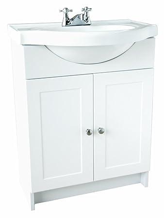 Design House 541656 Vanity Combo White Bathroom Cabinet With 2 Doors 25
