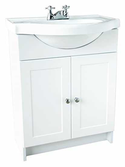 Design House 541656 Vanity Combo White Vanity Bathroom Cabinet With  2 Doors, 25