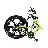 Selected Cyrusher RD-100 Green Shimano M310 ALTUS Full Suspenion 24 Speeds Folding Mens Mountain Bike Bicycle 17 in * 26 in Aluminium Frame Disc Brakes