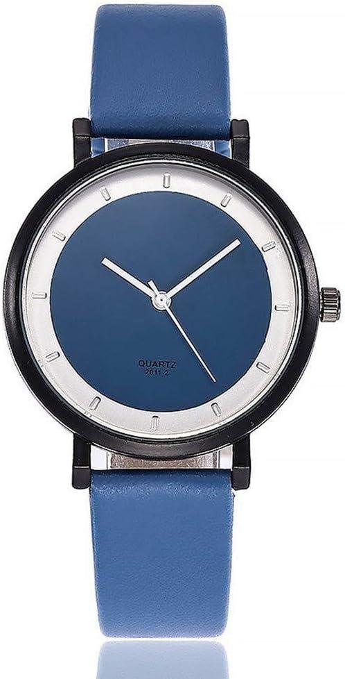 Relojes Reloj Watches Relojes De Pulsera Reloj De Estilo Simple Para Mujer Reloj De Pulsera De Cuero De Moda De Lujo Para Mujer Reloj De Pulsera De Cuarzo Azul