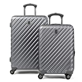 Citadel Deluxe 20' and 24' Hardside Spinner Luggage Set by Travelpro, Gun Metal Gray
