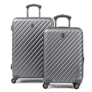 Travelpro Citadel Deluxe Hardside Luggage Set with Spinner Wheels, Gunmetal Gray, 2-Piece (20/24) 4
