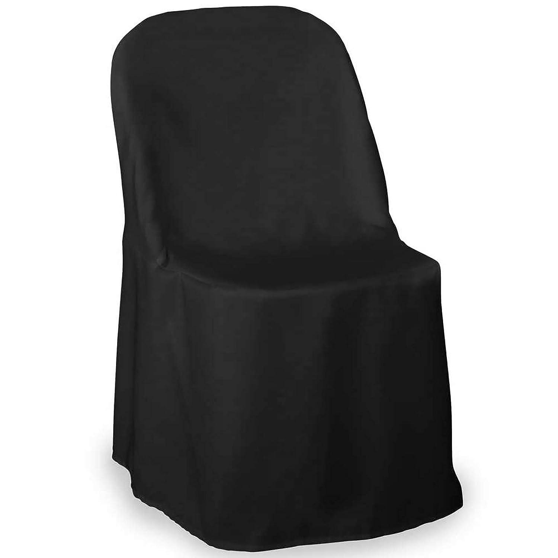 Phenomenal Lanns Linens 10 Elegant Wedding Party Folding Chair Covers Polyester Cloth Black Machost Co Dining Chair Design Ideas Machostcouk