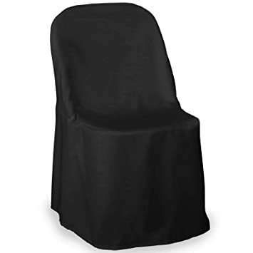 Swell Lanns Linens 10 Elegant Wedding Party Folding Chair Covers Polyester Cloth Black Ibusinesslaw Wood Chair Design Ideas Ibusinesslaworg