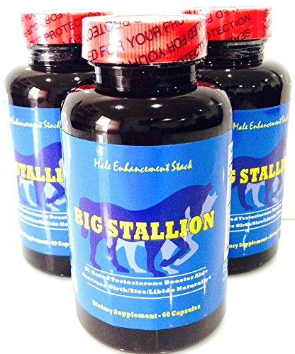 Pills BIG STALLION Male Enhancement, All Natural Testostérone pour les hommes. Supplément pilules pour la croissance musculaire et améliorer la performance sexuelle.