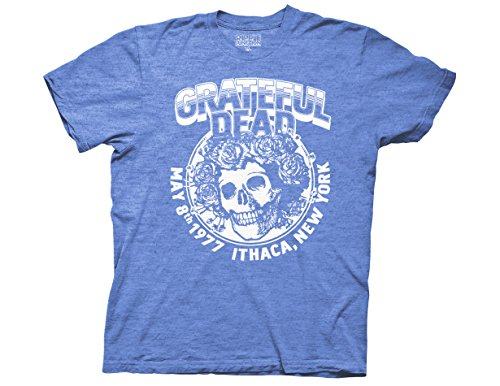 Ripple Junction Grateful Dead Ithaca NY Adult T-Shirt Large Royal Heather (Skeleton Jester)