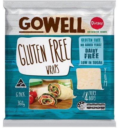 Gowell Gluten Free Wrap 6 Pack X 12