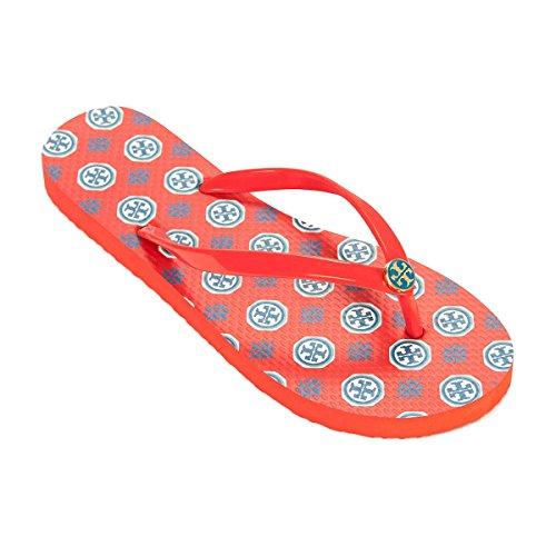 Tory Burch Flip Flops Shoes Sandals Flat Rubber (7, Samba (Compass Shoes)