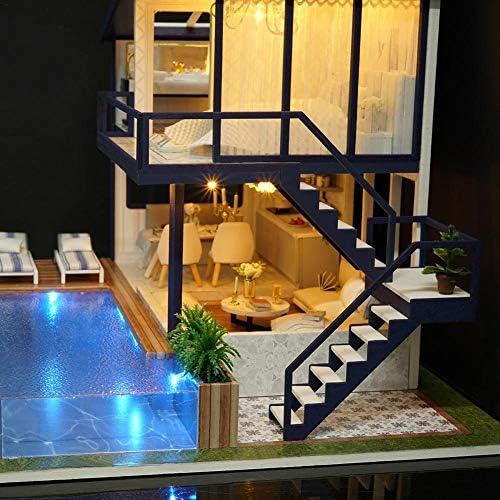 Anna-neek Maison de Bricolage 3d Diy Dollhouse avec Lumière LED ...