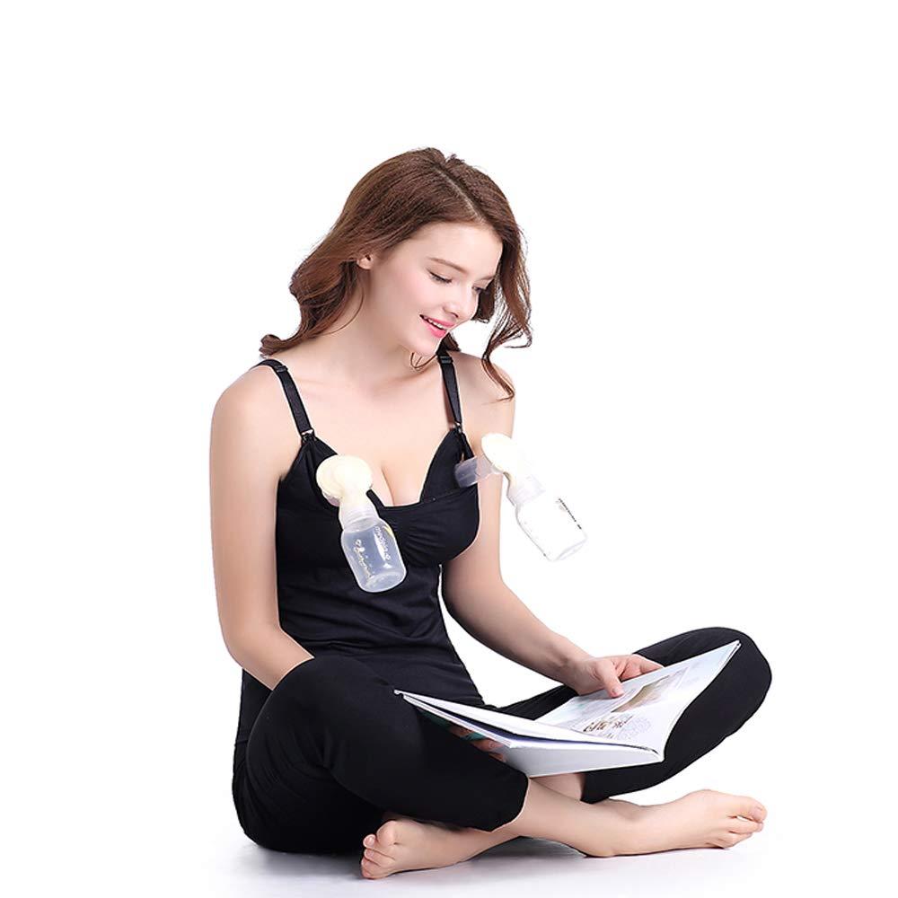 Xiaoqin Sujetador de Lactancia Femenino Manos Libres (Color : Black, Size : XL): Amazon.es: Hogar