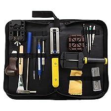 Baban 29Pcs Watch Repair Tool Kit Professional Watchmaker Case Opener Spring Bar Tool Set