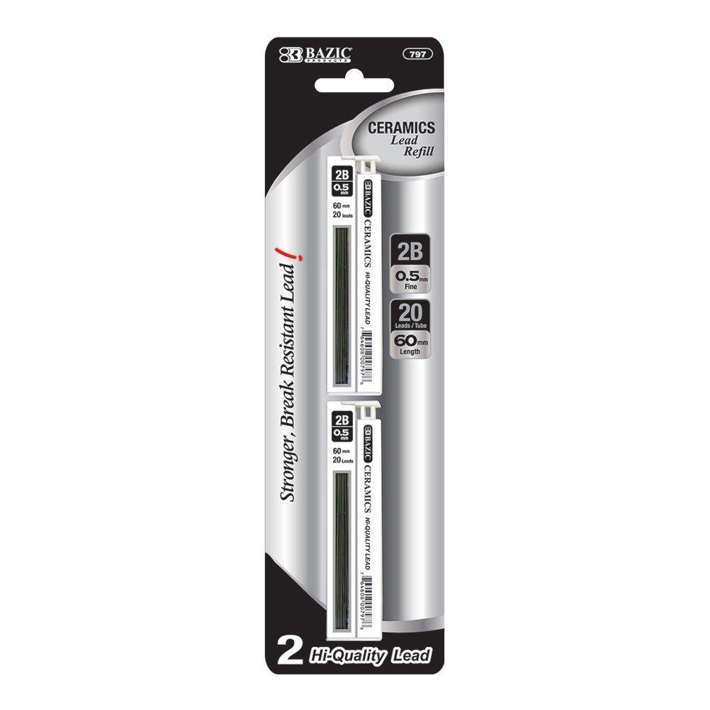 BAZIC 20 Ct. 0.5mm Ceramics Hi-Quality Mechanical Pencil Lead (2/Pack) (Case of 288)