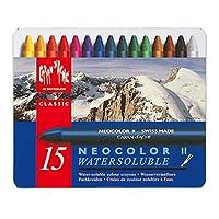 Caran d'Ache Classic Neocolor II pasteles solubles en agua, 15 colores