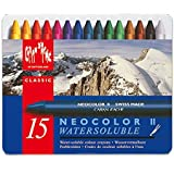 "Creative Art Materials""Caran D'Ache NeoColor II"" Water Soluble Wax Pastel Set, Multi-Colour, Pack of 15"