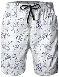 Feimao Bowling Mens Beach Pants Summer Casual Swimming Trunks with Pockets