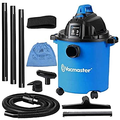 Vacmaster 5 Gallon, 3 HP Wet/Dry Vacuum