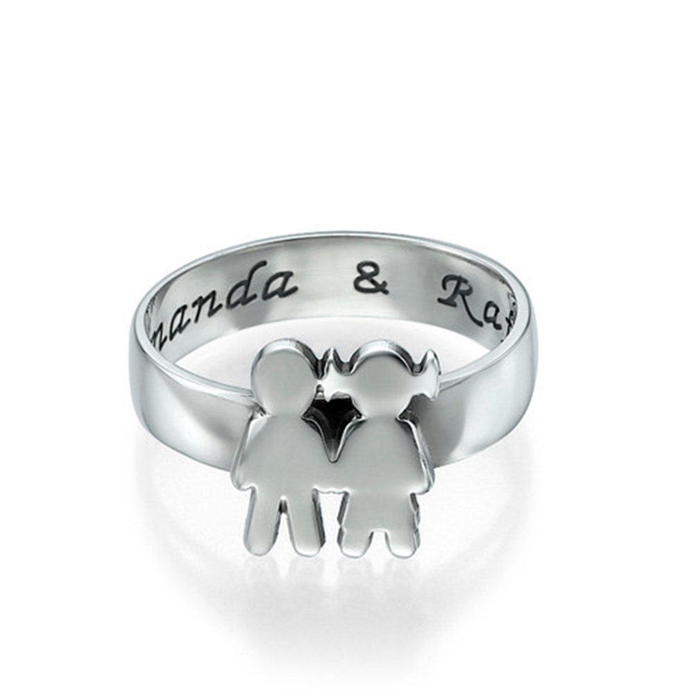 925 Sterling Silver Personalized Name Ring Custom Made with Any Names